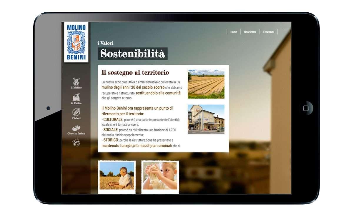 molino benini web tablet